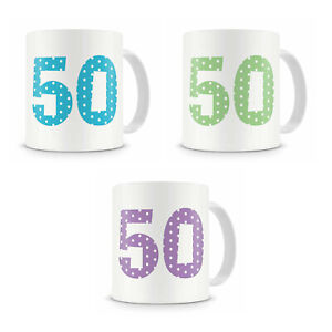 50th Fiftieth Birthday Mug Present Gift For Him Her Brother Sister Cousin Etc