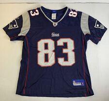 NFL Reebok Team Shirt New England Patriots 83 Wes Welker Size Medium Football