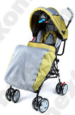 Babystar Baby Stroller Buggy Pram Pushchair Lightweight Raincover Footmuff Green