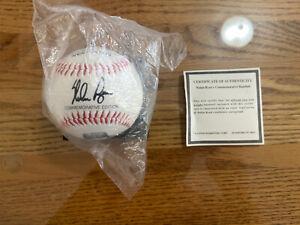 Nolan Ryan autographed baseball With coa. Nolan Ryan's Commemorative Baseball.
