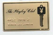 Original 1960s PLAYBOY CLUB Gold Metal Key Card Pass
