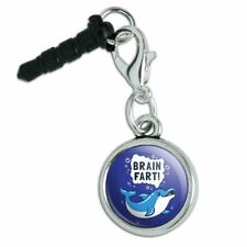Brain Fart Dolphin Funny Humor Mobile Cell Phone Headphone Jack Charm