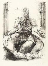 Heidrun Hegewald-figurenpaar-Lithographie 1988