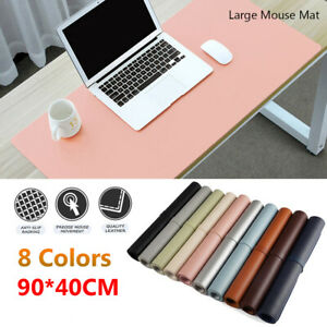 Large Leather Modern Computer Desk Mat Keyboard Mouse Pad Laptop Cushion AU