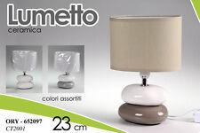 LAMPADA LUMETTO ABAT JOUR IN CERAMICA H 23 CM COLORI ASSORTITI ORY-652097