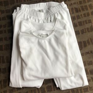 Lot Of Two 2-piece Polar Max Youth Base Layer Crew White Size XS Long Underwear