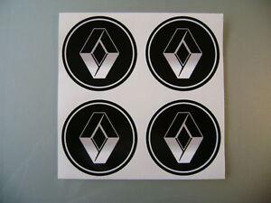 4x 60 mm fits renault wheel STICKERS center badge centre trim cap hub alloy BK