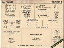 1964 CHEVROLET BISCAYNE/BEL AIR/IMPALA 409 HI-PO Car SUN ELECTRONIC SPEC SHEET