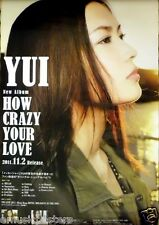 """YUI """"HOW CRAZY YOUR LOVE"""" ASIAN PROMO POSTER - Japan J-Pop Music,Japanese Singer"""