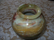 "Marble, Stone Or Quartz Vase Small 5"" Tall"