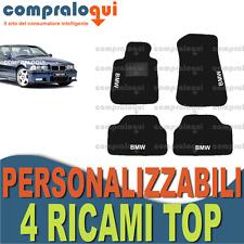 TAPPETI per BMW SERIE 3 E36 in MOQUETTE SU MISURA + scegli 4 DECORI TOP RICAMATI