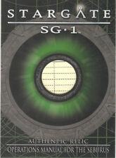 "Stargate SG-1 Season 8 - R14 ""Operations Manual"" Relic Card #407/420"