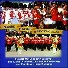 MASSED MILITARY BANDS SPECTACULAR / MARCHING ROUND THE WORLD NEW 2 CD BRASS