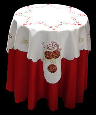 New Embroidered Baubles Christmas Tablecloth  85cm Square X325