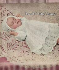 Vintage 1940s Baby Shawl KNITTING PATTERN Shetland Christening 115 x 115 cm COPY