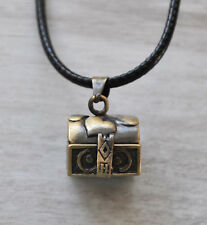 Vintage Bronze Plt  Wish Box Locket Pendant Necklace Love girls ladies Gift