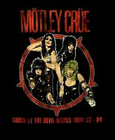 MOTLEY CRUE cd lgo SHOUT AT THE DEVIL WORLD TOUR '83-'84 Official SHIRT XL new