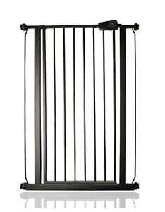 Safetots Matt Black Finish Extra Tall Pressure Fit Safety Stair Gate 75-83cm