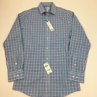 NEW Men's Bar III Slim Fit Check Dress Shirt Small 14-14.5 32/33 Purple Blue