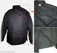 SCA Larp Renaissance Cotton Front closure Black FENCING jousting jacket Large
