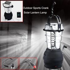 36 LED Solar Lamp Outdoor Super Bright Rechargeable Camping Light Hand Crank