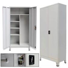 """Metal Cabinet 2 Door Storage Office Cupboard Tool Shelve Steel 35.4""""x15.7""""x70.9"""""""