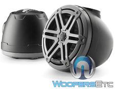 """JL AUDIO M3-650VEX-Mb-S-Gm 6.5"""" BLACK MARINE BOAT TOWER SPEAKERS TWEETERS NEW"""