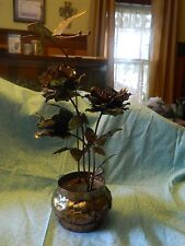 metal flowers butterflymoves music box sankyo japan you light up my life