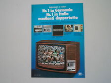 advertising Pubblicità 1976 TELEVISORE GRUNDIG SUPER COLOR 3200