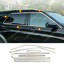 For Ford Explorer 2020-2021 Stainless Car Window Trim Strip Cover Chrome 10pcs