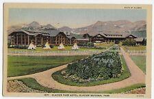 Glacier National Park Hotel Montana Linen Vintage Postcard