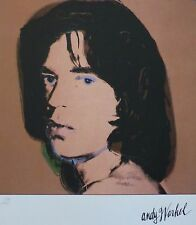 ANDY WARHOL MICK JAGGER II SIGNED HAND NUMBERED 2026/2400 LITHOGRAPH