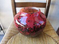 Ancien superbe vase Daum # Nancy France en verre doublé et moucheté Art Déco.