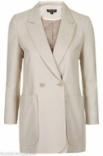 Blazers Hip Length Casual Double Breasted Women's Coats & Jackets