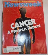Newsweek Magazine Cancer Progress Report November 2, 1981 100716R2
