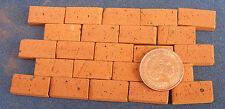 50 Dolls House Miniature Hand Made Basic Red Bricks Garden Accessory