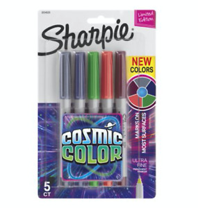 NEW Sharpie Cosmic Color Ultra Fine Permanent Marker 5 Limited Edition Colours!