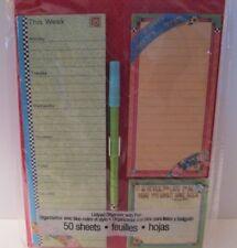 Mary Engelbreit Listpad Magnetic List/Pad Organizer 50 Sheets Mint In Pkg/Pen