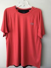 The North Face Mens Flash Dry Large Running T-shirt Red/Black