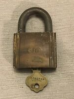 Vintage ILCO Brass Padlock Lock with Key WORKING Made in the USA