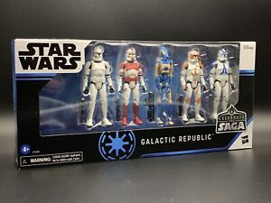STAR WARS GALACTIC REPUBLIC CELEBRATE THE SAGA 5 FIGURE BOXSET HASBRO VC