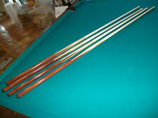 "Brand New One Piece Pool Cues Economy Bar Sticks Maple inlayed 57""inch set of 4"