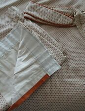 """Vintage Laura Ashley Linded Curtains & Tie Backs 64"""" Wide x 55"""" Drop."""