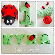 1 Big Edible Lady Bug,number & Name Cake Topper For Lady Bug Birthday