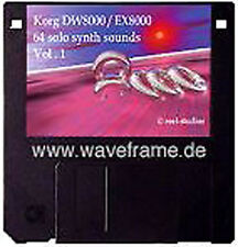 Sound-Set Korg DW-8000/EX-8000 Volumen 1 Midisounds waveframe, Yamaha,Roland,EMU