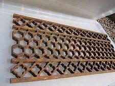 "Victorian Iron Floor Grate Grill Manhole Cover Drain Antique Church Gothic 21x9"""