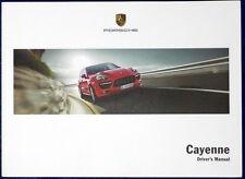 Driver's Manual PORSCHE  Cayenne  Uso Manutenzione Porsche 9PA ENG