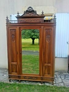 Beautiful Antique French Triple Armoire, Louis XVI Style