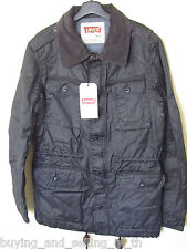 NWT LEVI'S - LEVI STRAUSS & CO Black Jacket / Coat - Size S - 90cm - RRP $250