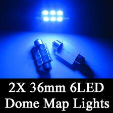 2X Ultra Blue 36MM 5050 6 SMD Festoon Dome Map Interior LED Light DE3423 6418